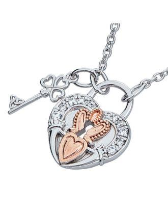 Claddagh Love Lock Necklace