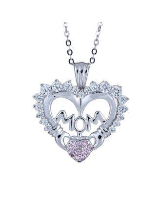 Mom Claddagh Heart Pendant