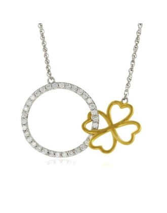 Clover Linked Circle Necklace