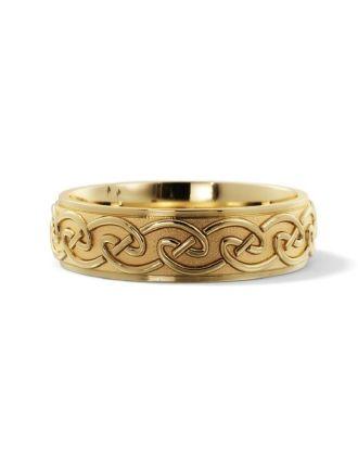 Comfort Fit 10K Gold Celtic Knot Ring