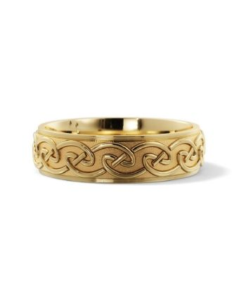 Comfort Fit 14K Gold Celtic Knot Ring | Celtic Knot Wedding Ring