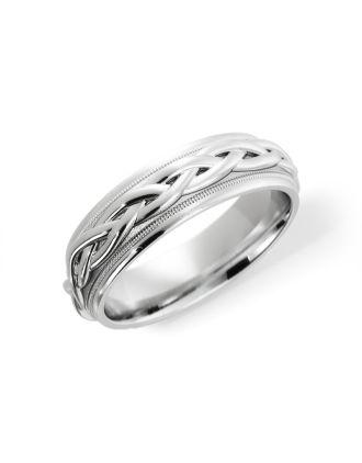 Comfort Fit Celtic Ring Sterling Silver