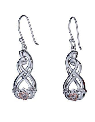 Celtic Couples Claddagh Earrings