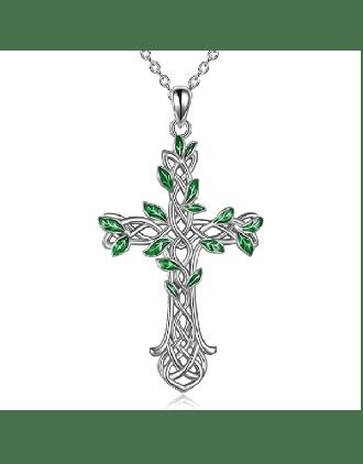 Tree of Life Cross Celtic Knot Pendant | Tree of Life Cross Pendant