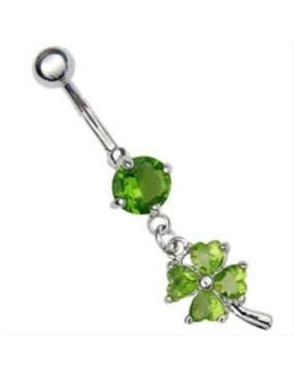 Dangling Clover Belly Ring