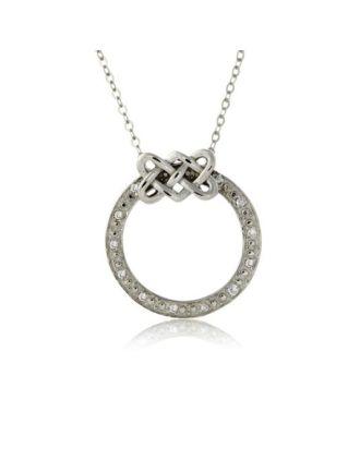Diamond Celtic Circle Necklace