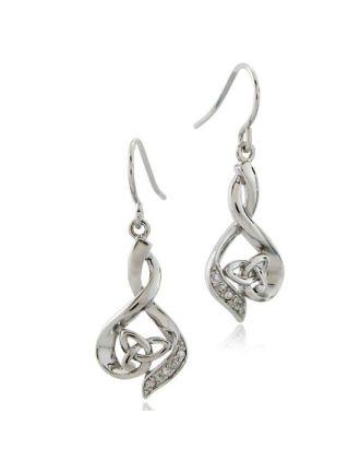 Diamond Wrapped Trinity Earrings