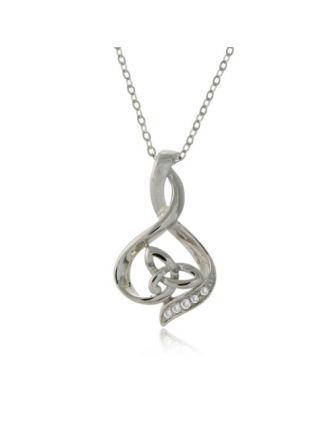Diamond Wrapped Trinity Necklace