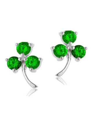 Emerald Shamrock Earrings