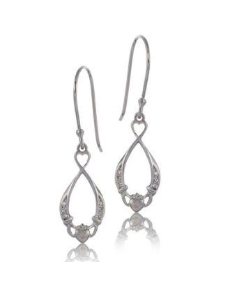 Eternity Claddagh Earrings