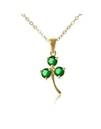 Green and Gold Shamrock pendant