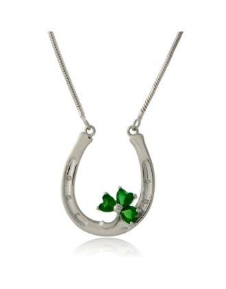 Shamrock Horseshoe Necklace