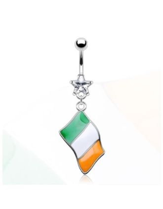 Flag of Ireland Belly Ring