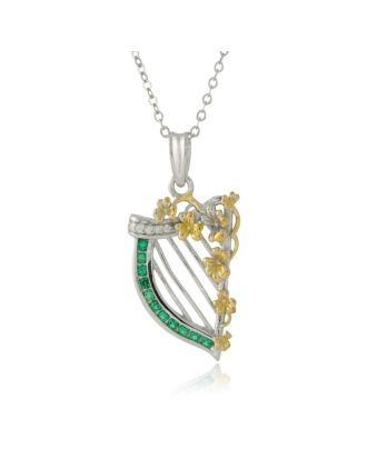 Irish Harp Necklace