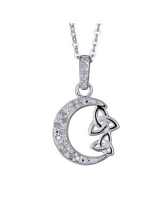 Diamond Celtic Moon Pendant