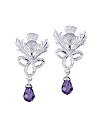 Thistle Love Knot Briolette Earrings
