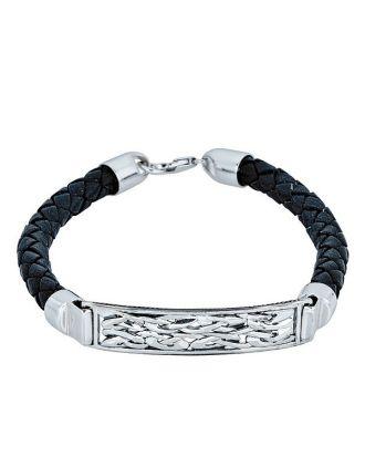Celtic Tag Leather Bracelet