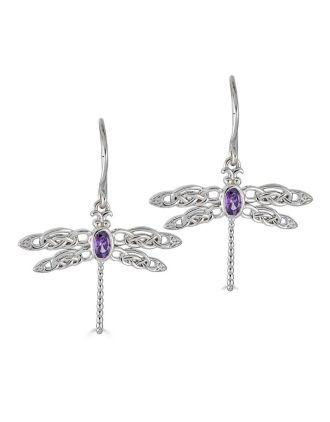 Celtic Dragonfly Earrings