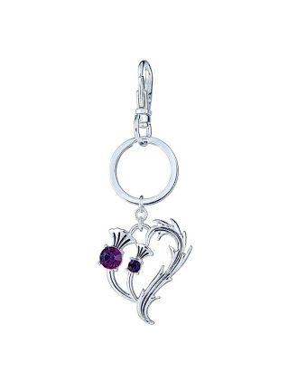 Thistle Heart Key Chain