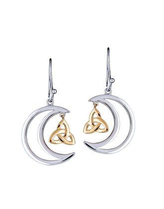 Celtic Moon Earring | Moon Jewelry