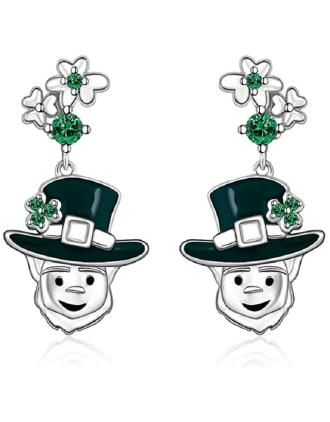Leprechaun St Patrick's Day Earrings | St Patrick's Day Earrings