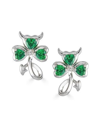 Lil' Irish Devil Shamrock Earrings