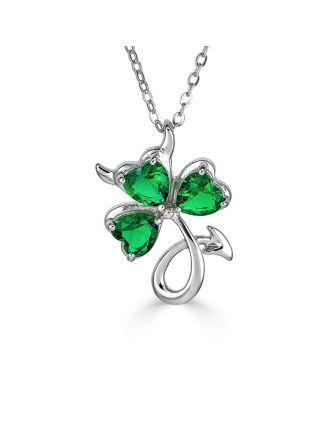 Lil' Irish Devil Shamrock Necklace