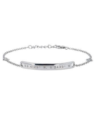 Irish Latitude Longitude Bar Bracelet