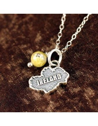 Map of Ireland pendant