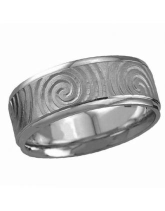 Newgrange Swirl Ring Sterling Silver