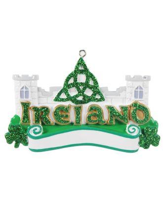 Ireland Castle Personalized Christmas Ornament