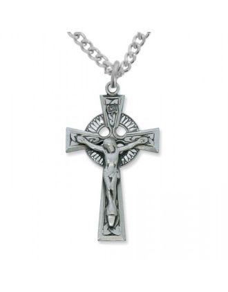 Pewter Celtic Crucifix