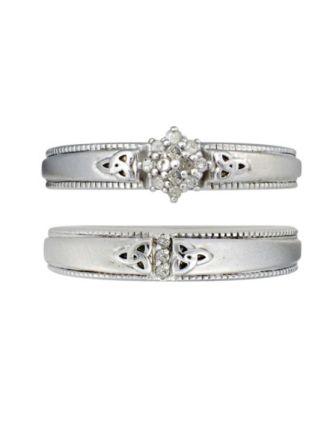 Double Trinity Diamond Bridal Set