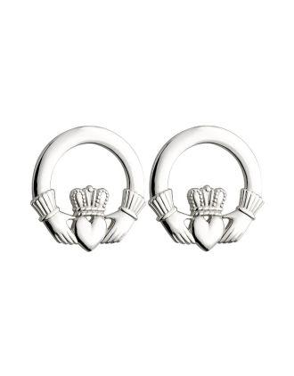 Large Claddagh Stud Earrings