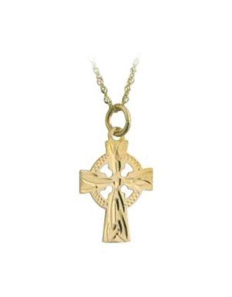 small gold celtic cross