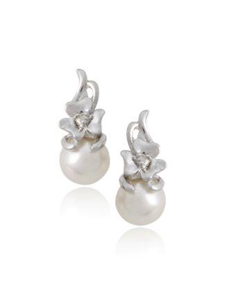 Irish Pearl Diamond Earrings