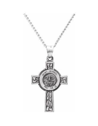 St. Michael Cross Necklace