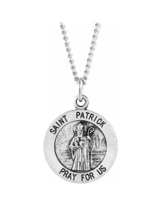 St. Patrick Medal Necklace Small Round