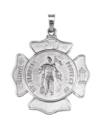 St. Florian Shield Medal with Irish Saying