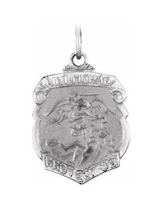 St. Michael Shield Medal with Irish Saying
