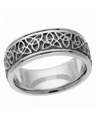 10K White Gold Antique Trinity Knot