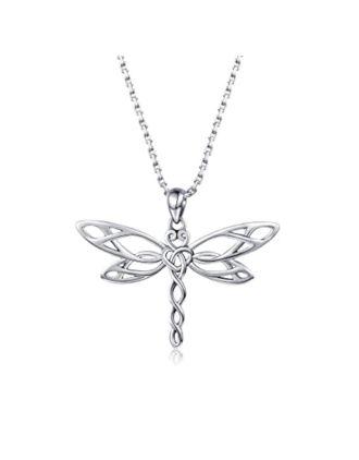 Celtic Knot Dragonfly Pendant