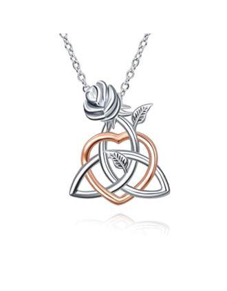 Irish Rose Trinity Knot Pendant | Irish Rose Pendant