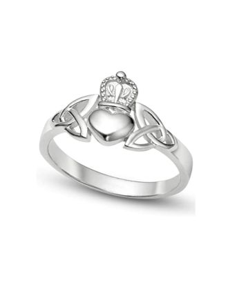 Celtic Knot Claddagh Ring