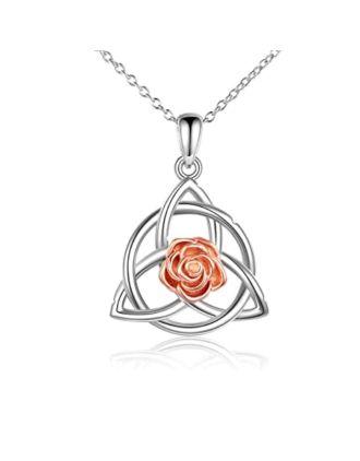Irish Rose Celtic Knot Pendant