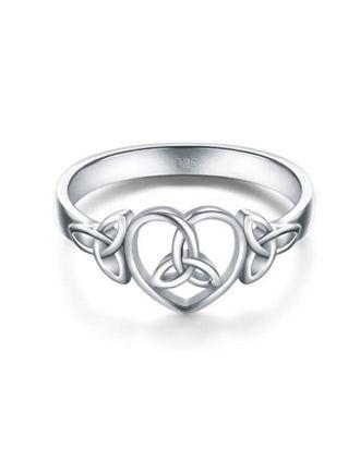 Celtic Love Knot Ring | Celtic Love Knot Heart Ring