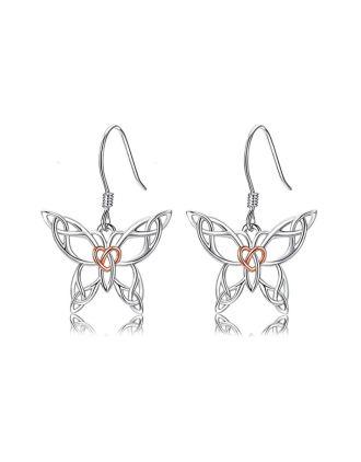 Celtic Knot Butterfly Earrings | Celtic Butterfly Meaning