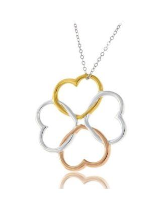 Tri Color Clover Necklace