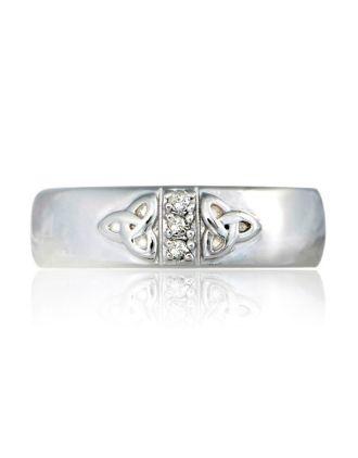 double trinity knot diamond ring