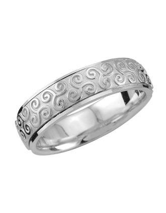 Celtic Triskele Wedding Ring 10k gold